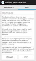 Screenshot of Business Name Generator