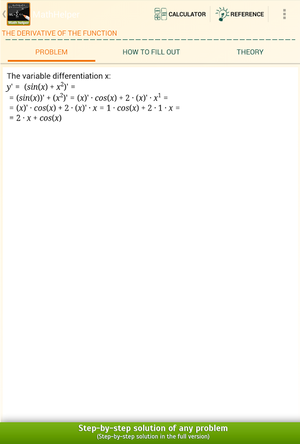 Math Helper Lite - screenshot