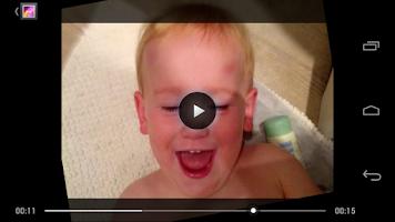 Screenshot of PhotoChron - timelapse selfie