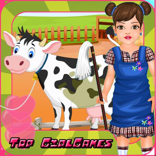 鄉村女孩 - 農場清理 LOGO-APP點子