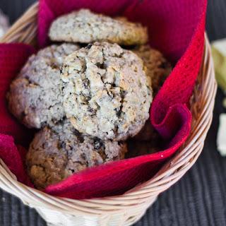 Oatmeal Raisin and White Chocolate Cookies.