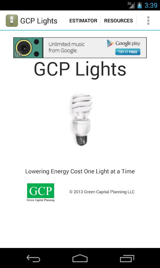 GCP Lights - screenshot