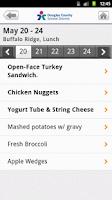 Screenshot of School Lunch by Nutrislice