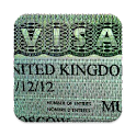 Visa status check via VFS icon