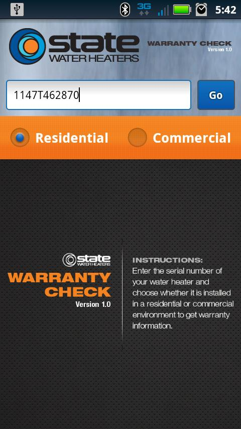 State Water Heaters - screenshot