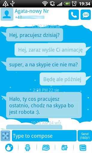 GO SMS Pro Snowman Theme