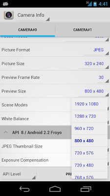 Camera Info - screenshot