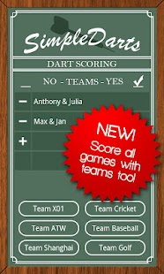 Simple Darts - Dart Scoring - screenshot thumbnail
