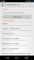 Screenshot of NFC Writer by Tagstand