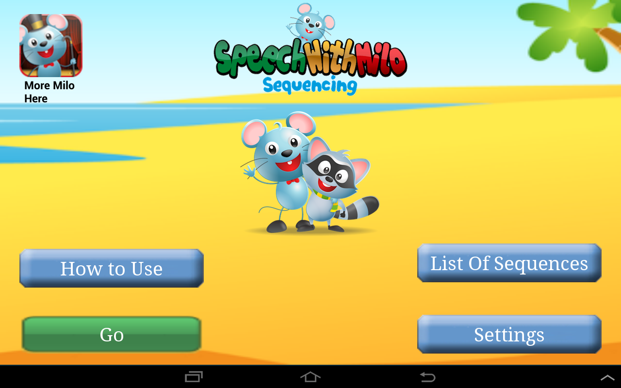Speech with Milo: Sequencing - screenshot