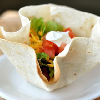 Homemade Taco Tortilla Bowls.