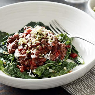Bolognese With Kale And Paleo Parmesan.