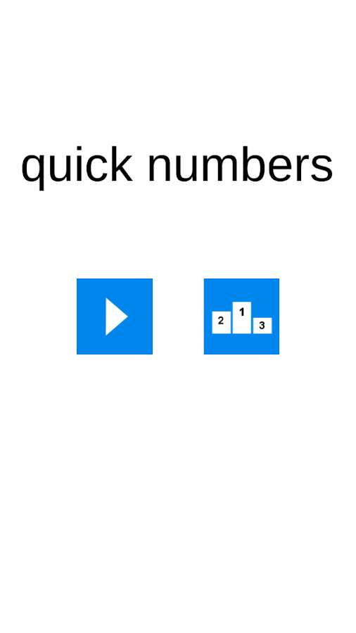 Quick Numbers- screenshot