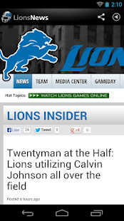 Lions News - screenshot thumbnail