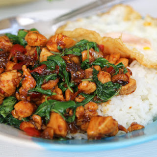 Thai Basil Chicken Recipe (pad Kra Pao Gai ผัดกระเพราไก่).