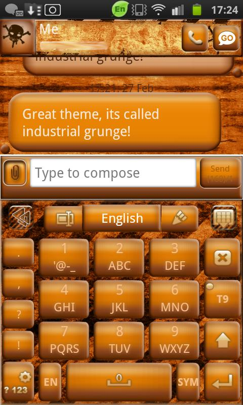 Go Keyboard Industrial Grunge - screenshot