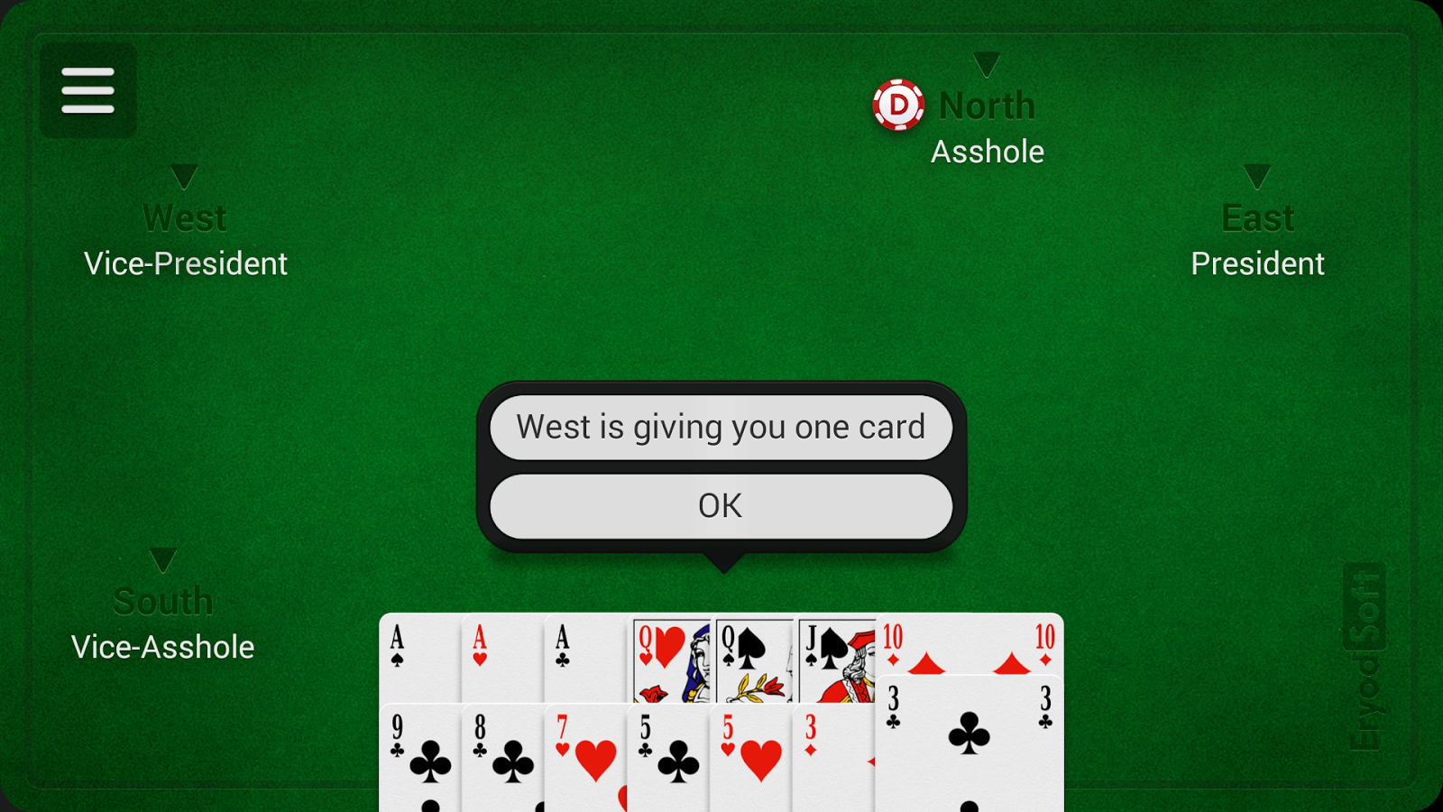 card games asshole play online