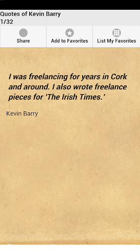 Quotes of Kevin Barry