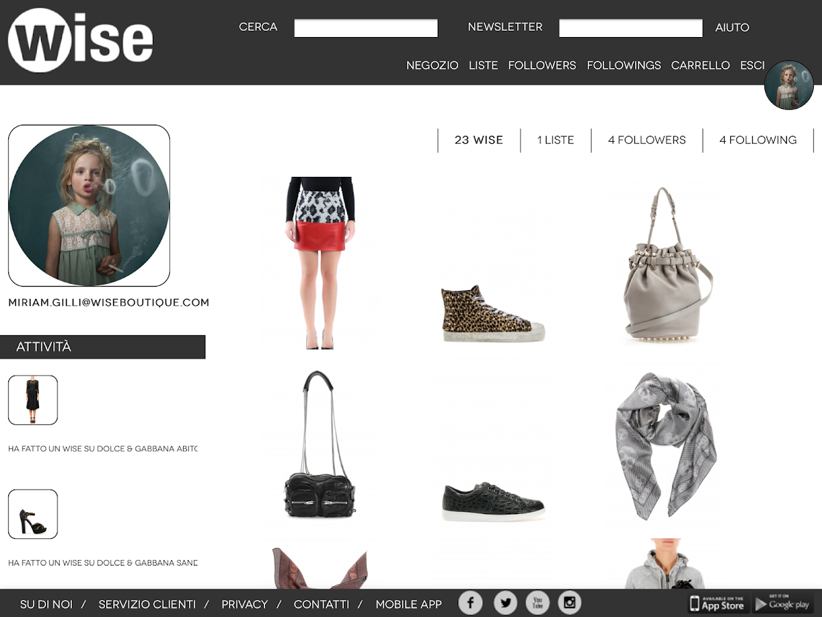 Wise Boutique- screenshot