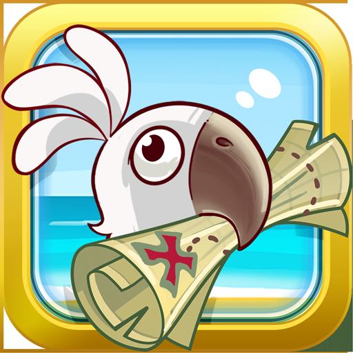 滑稽的海盜和寶藏的漩渦 LOGO-APP點子