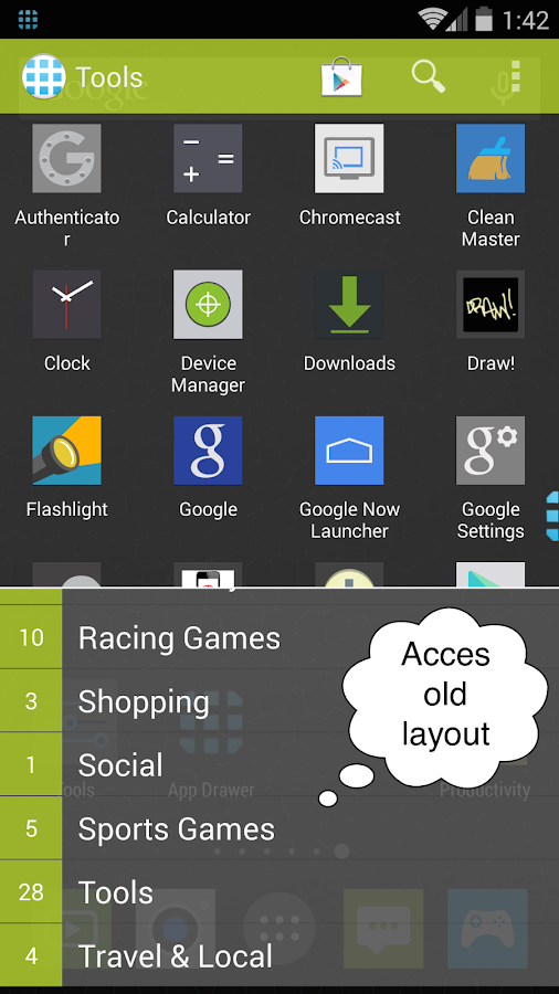 App Launcher+ (App Drawer)- screenshot