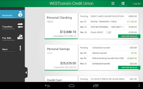 WESTconsin Credit Union - screenshot thumbnail