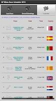 Screenshot of GP Bike Race Schedule 2012