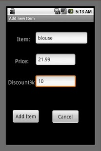 Shopping Calculator - screenshot thumbnail