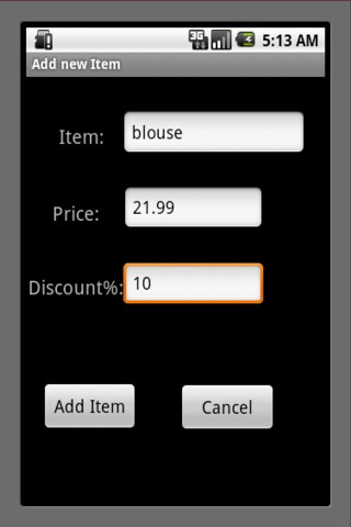 Shopping Calculator - screenshot