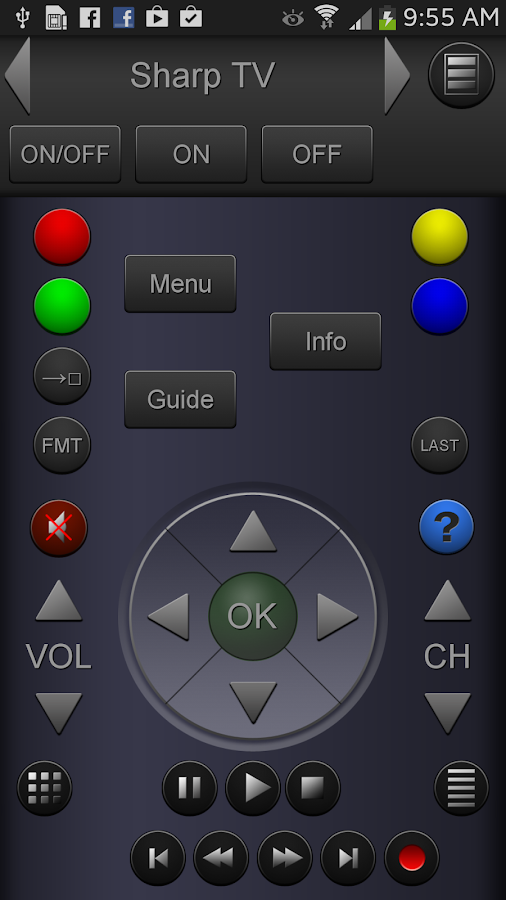 ZappIR Universal Remote Cont. - screenshot