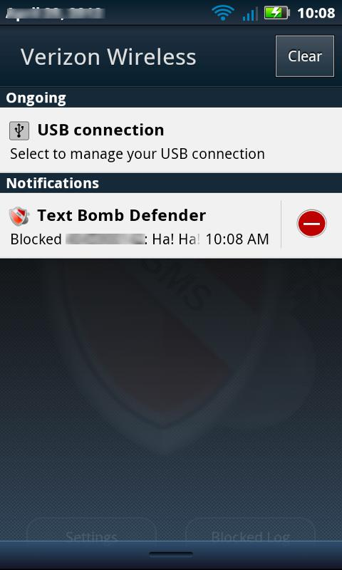 Text Bomb Defender - screenshot