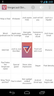 Vergecast Bingo - screenshot thumbnail