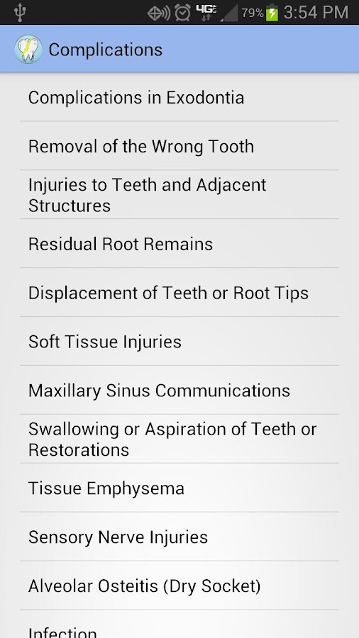 Oral Surgery Complications - screenshot