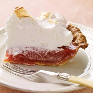 Pate Sucree for Rhubarb Meringue Pie