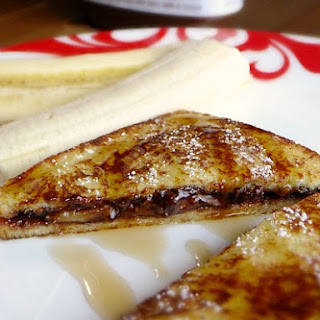 Stuffed French Toast With Nutella and Bananas.