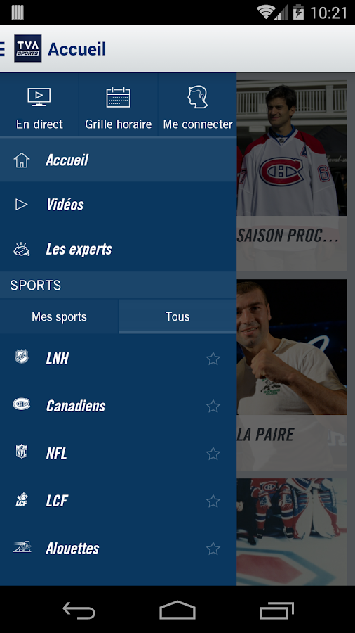 TVA Sports- screenshot