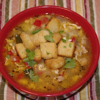 Egg Drop Turkey Soup