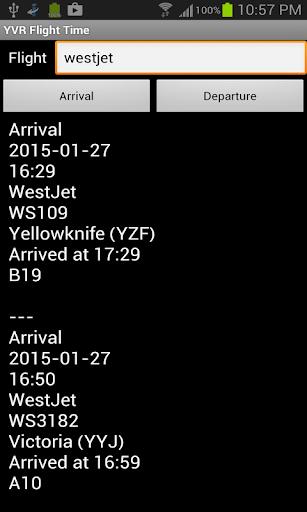 YVR Flight Time