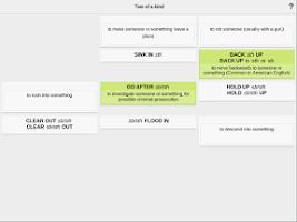 Screenshot of Learn Phrasal Verbs - Wlingua