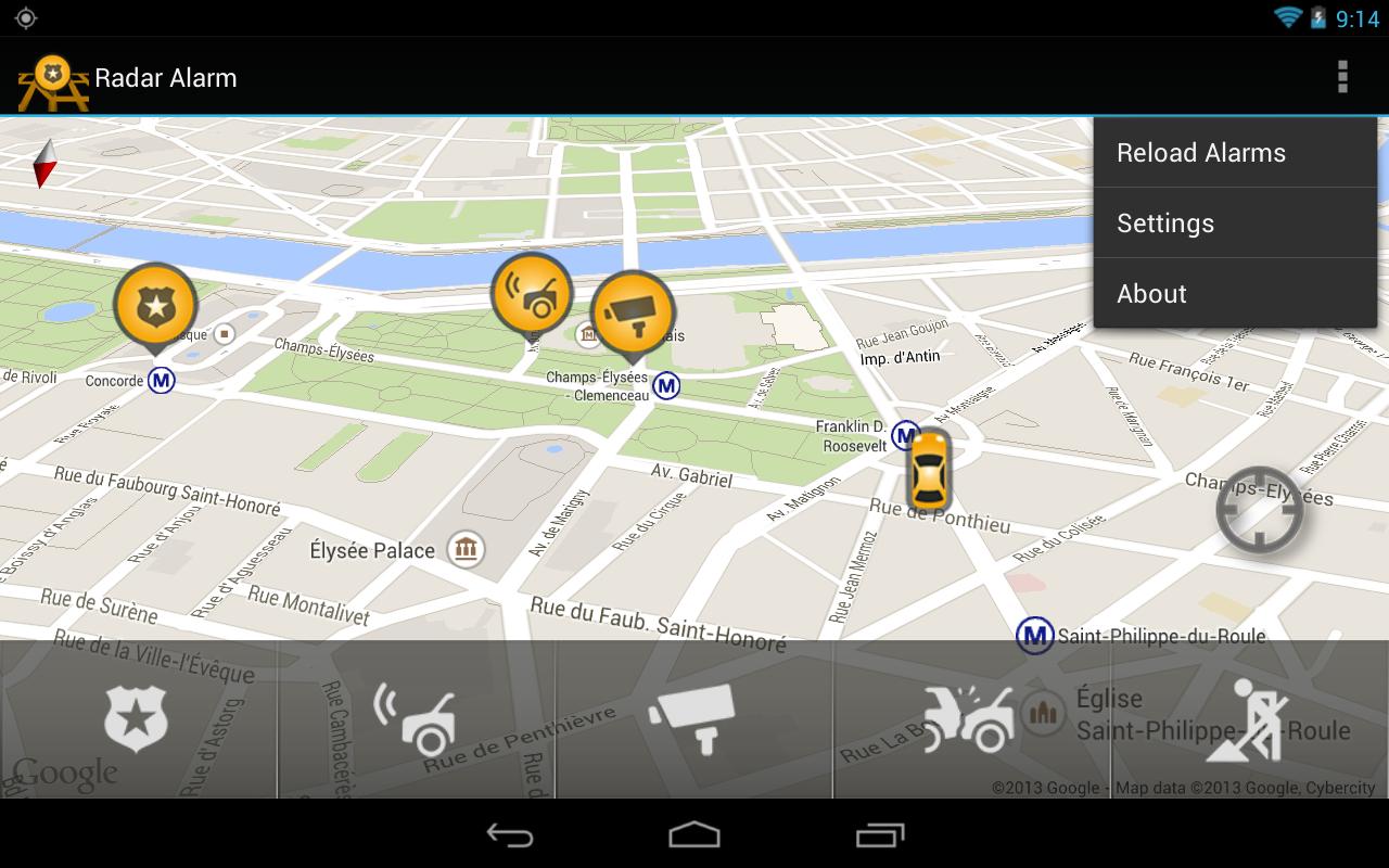radar alarm android apps on google play. Black Bedroom Furniture Sets. Home Design Ideas
