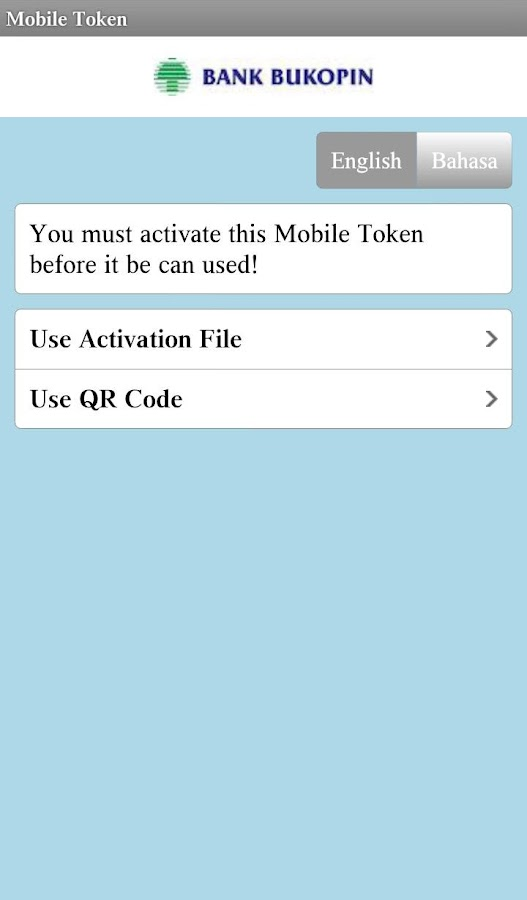 Mobile Token Bukopin- screenshot