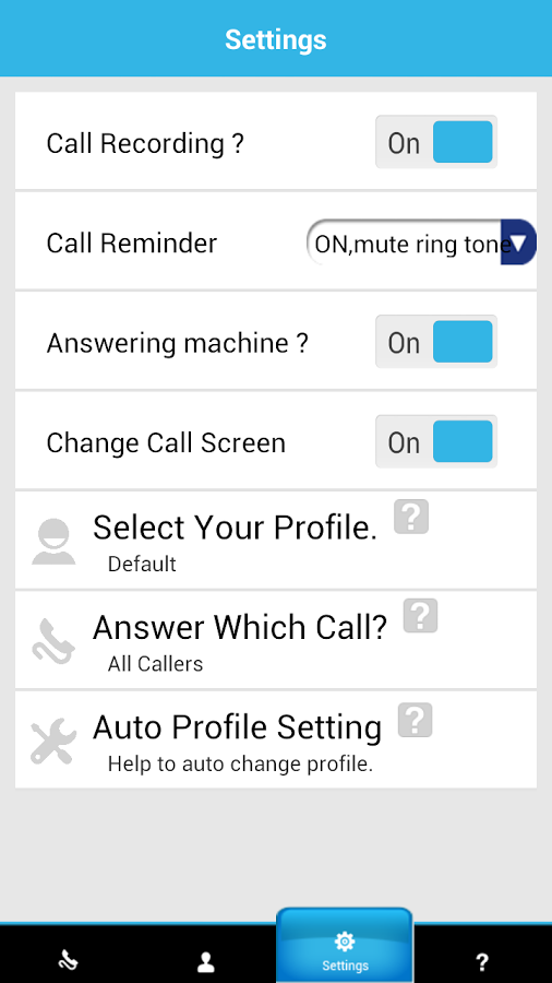 Smart Answering Machine - screenshot