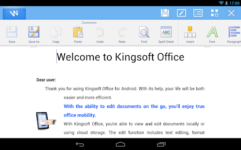 Kingsoft Office + PDF - FREE! - screenshot thumbnail