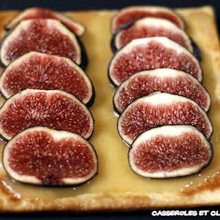 Fig and Calisson Cream Pie.