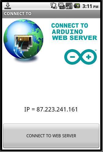 Connect arduino web server