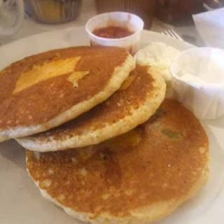 Santa Fe-Style Green Chile Pancakes.