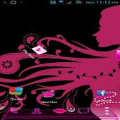 Next Launcher Girly and Pink