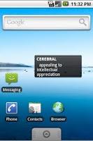 Screenshot of GRE Vocabulary with WIDGET