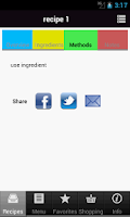 Screenshot of My Recipes Manager