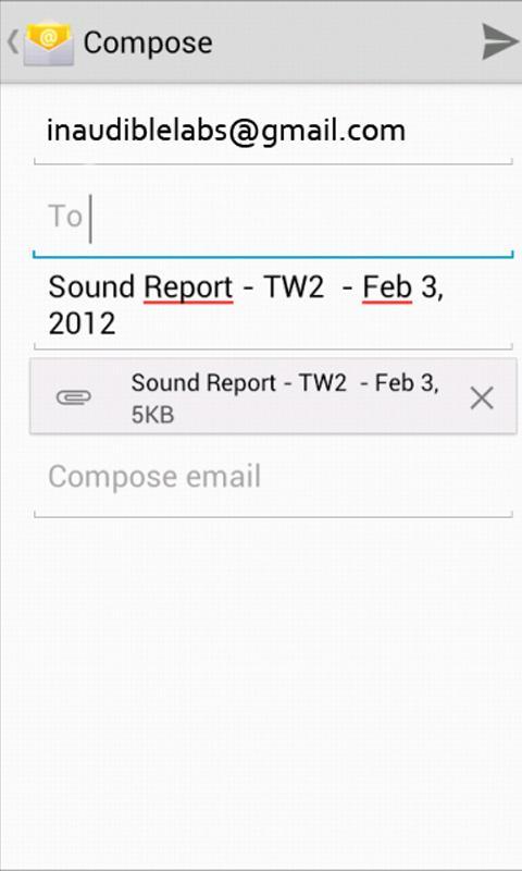 Sound Report Writer- screenshot